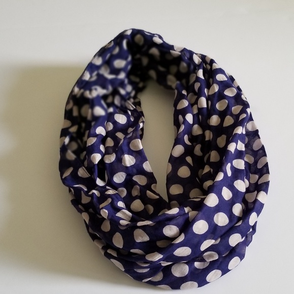 Charming Charlie Accessories - Polka Dots Infinity Scarf